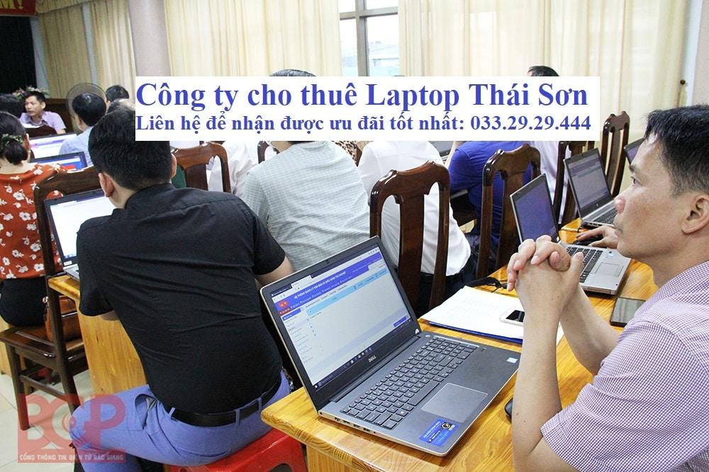Thuê Laptop Tập huấn phần mềm Tỉnh Bắc Giang